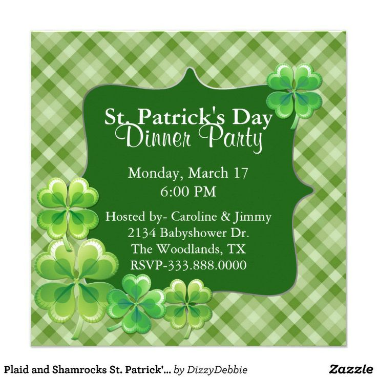145 best Saint Patrick\'s Day Invitations and Cards images on ...