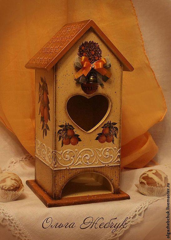 """Чайный домик """" Мечты о лете """" - коричневый,чайный домик,чайный домик декупаж"""