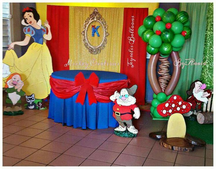 Snow White birthday theme