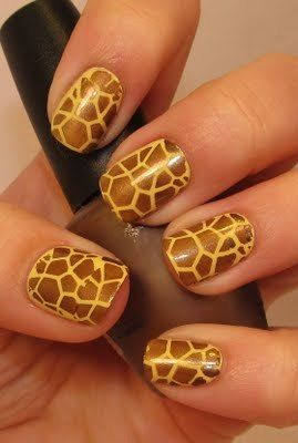 animal!Giraffes Prints, Giraffes Nails, Nails Art, Nailart, Giraffe Nails, Nailpolish, Animal Prints, Nails Polish, Prints Nails