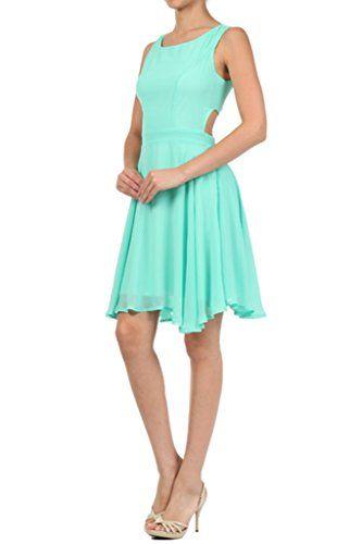 BLVD Women's Sleeveless Solid Pastel Color Skater Dress Mint Large BLVD http://www.amazon.com/dp/B00L2FN9X2/ref=cm_sw_r_pi_dp_ZbBUub0Y2RCD1