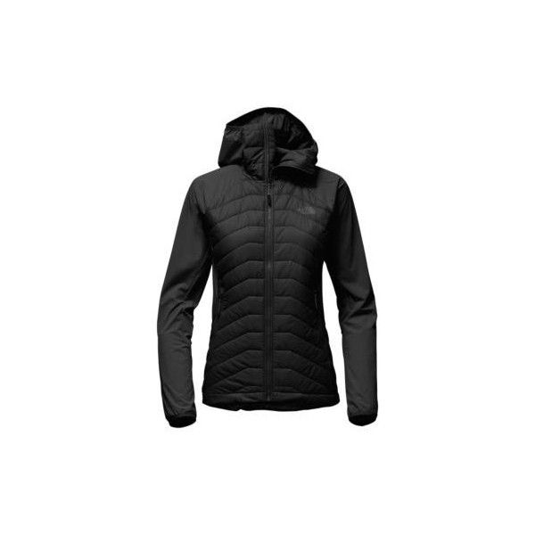 The North Face Women's Progressor Insulated Hybrid Hoodie Sweatshirt (132.705 CLP) ❤ liked on Polyvore featuring activewear, activewear tops, black and the north face