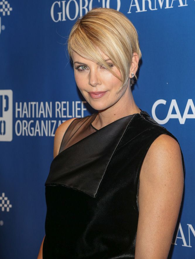 I am loving Charlize Theron's hair. (Link takes you to a gossip site, but whatever, I just wanted the photo!)
