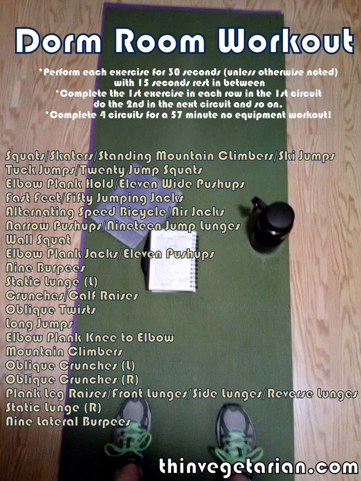 17 best ideas about dorm room workout on pinterest for Small room workout