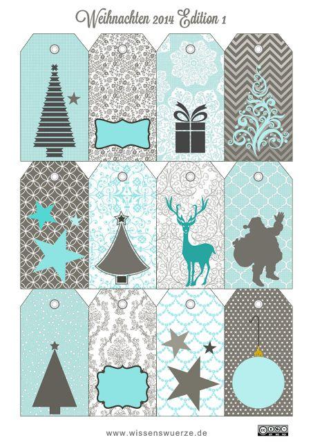 10 Free Sets of Christmas Gift Tag Printables