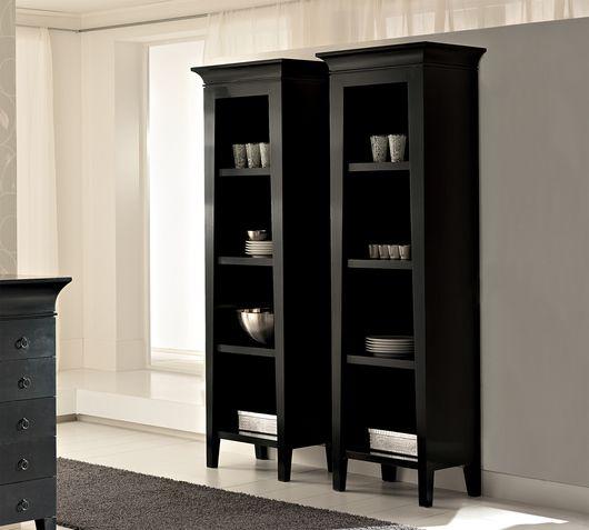 Duzzle libreria nera soggiorno in offerta a zig zag doppia