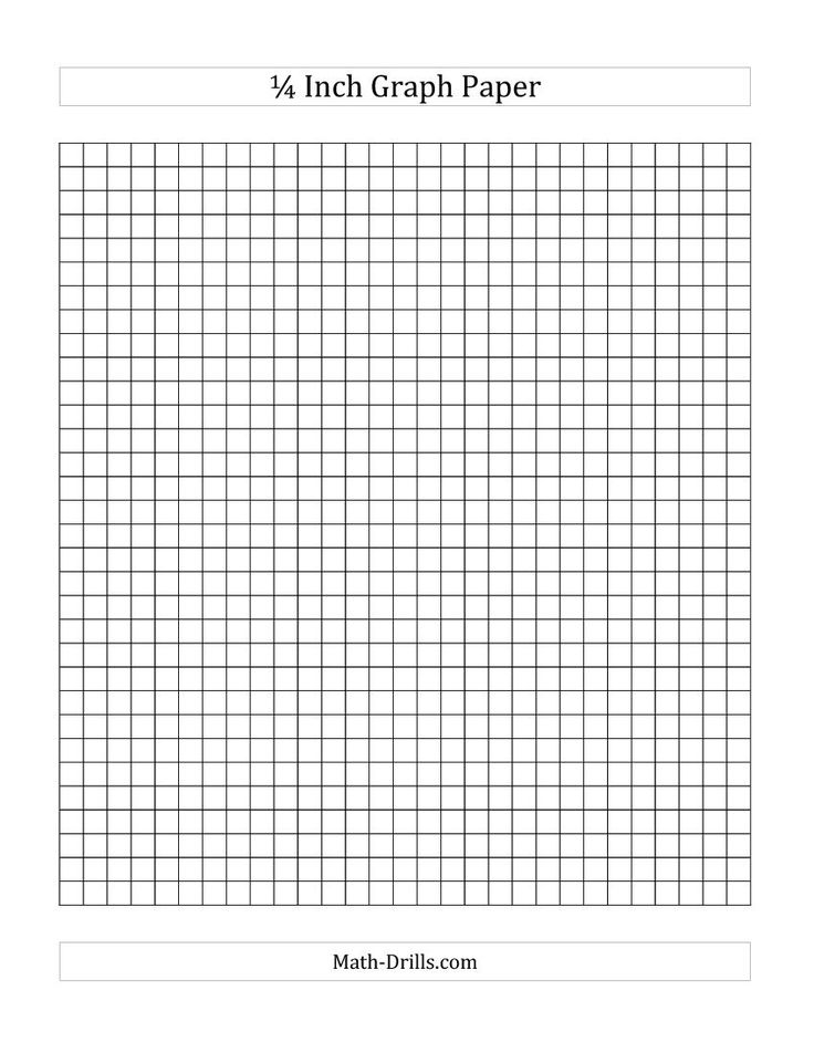 1/4 Inch Graph Paper (A) Math Worksheet #freemath