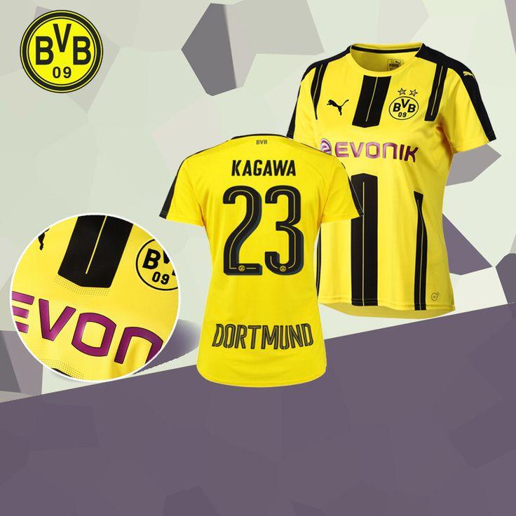 fc-eternel:Maillot Foot Dortmund BVB (KAGAWA 23) 2016/2017 Domicile