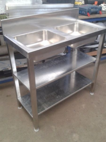 We are in the business of stainless steel fabrications.What we do:-sinks-tables-kitchen canopies-food passes-trolleys-trays-counter tops-hand basins-dirties tables-grease traps-sausage tables-shelving-pot racks-bar equipment-bakery equipment-hospital equipment-and much more...Hope our services would be of benefit to you.AntonA L Steel Projects07372093660218395317