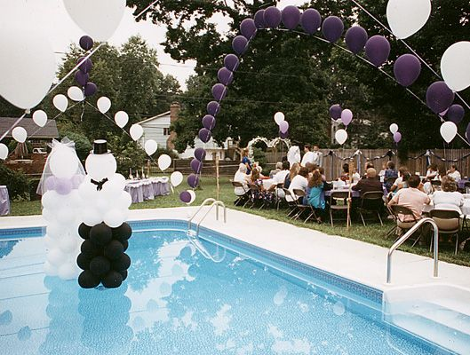 Pool Decorating Ideas magical themed poolside wedding reception d cor idea. swimming