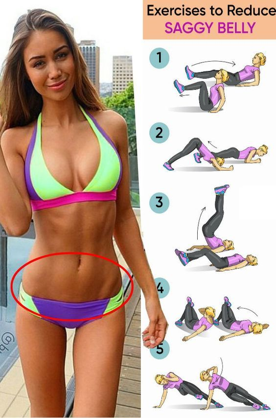 Exercises to reduce saggy belly – Work outs