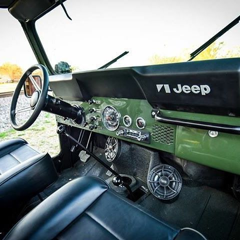Interior of the custom restored 1979 #jeep #cj #wetsounds @wetsounds #follow #lonestar4x4
