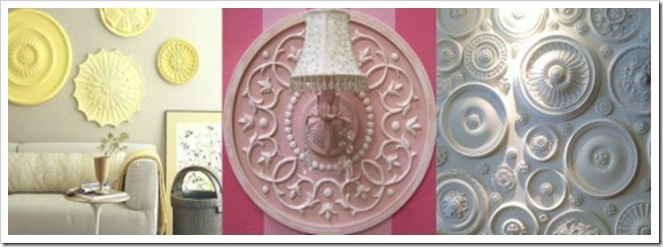 ceiling medallion to surround wimpy wall light fixture