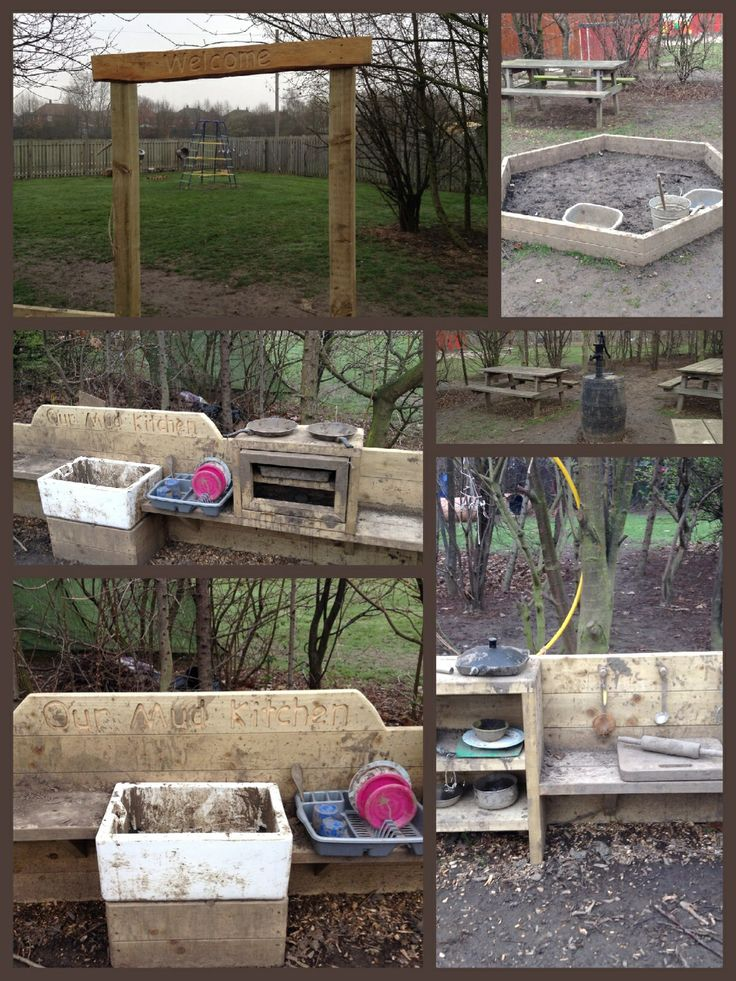 Our mud kitchen inspired by @Geoff Green-Armytage Billing and created by Cool Canvas www.naturalplayareas.co.uk