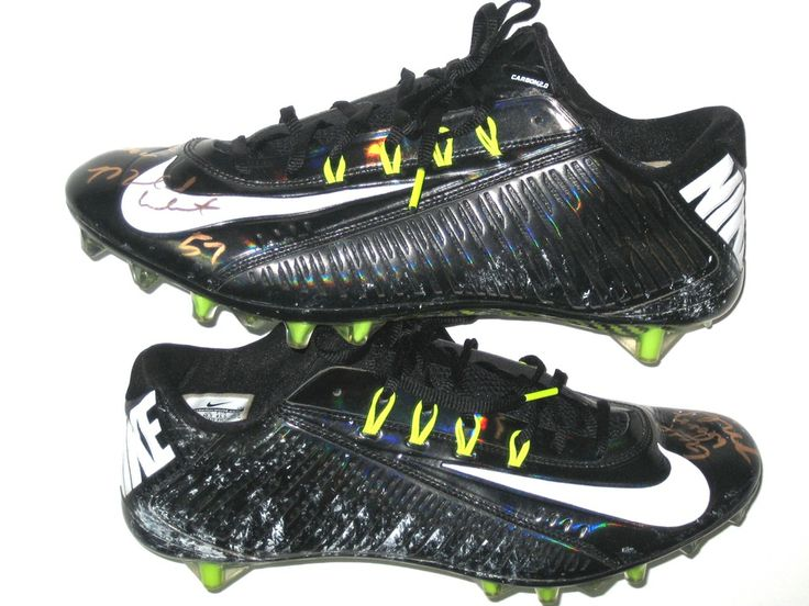 Michael Wilhoite San Francisco 49ers Game Worn & Signed Black & White Nike Vapor Carbon Cleats