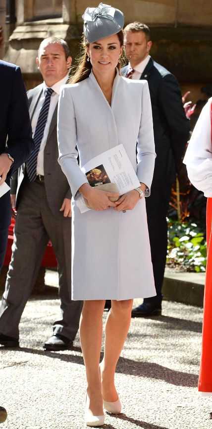 Look of the Day - April 21, 2014 - Kate Middleton in Alexander McQueen from #InStyle
