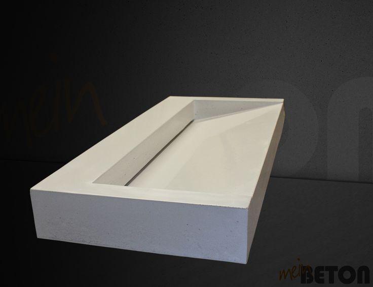 waschbecken bzw waschtisch aus beton farbe und gr e ist. Black Bedroom Furniture Sets. Home Design Ideas