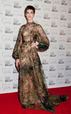 Repeating Anne Hathaway's style from the