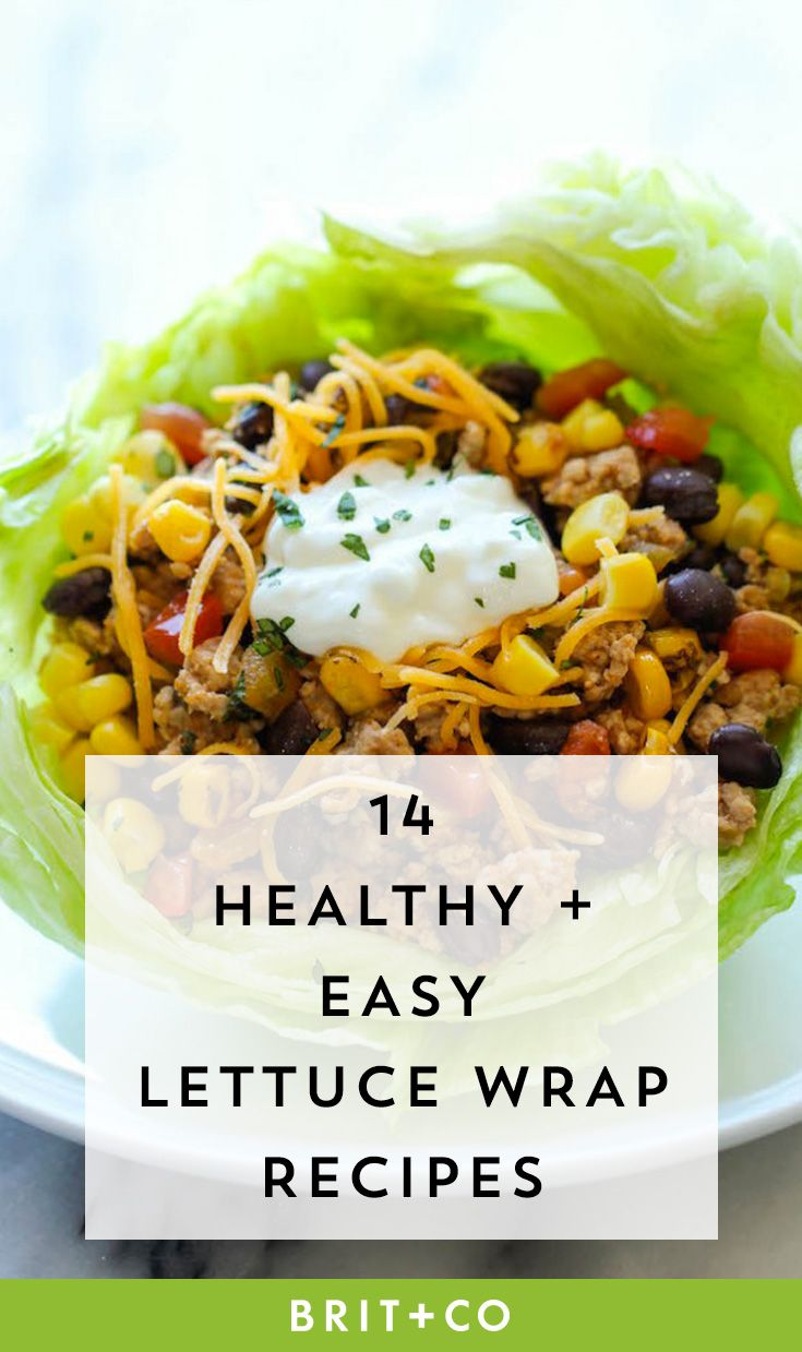 Bookmark these healthy + easy lettuce wrap recipes for lunch during the workweek.
