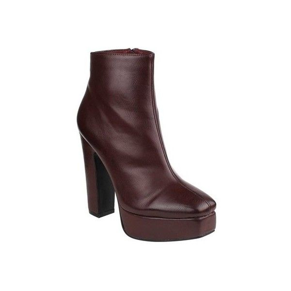331c5edebe3 Women s Beston Tape-1 Platform Ankle Bootie ( 44) ❤ liked on Polyvore  featuring shoes