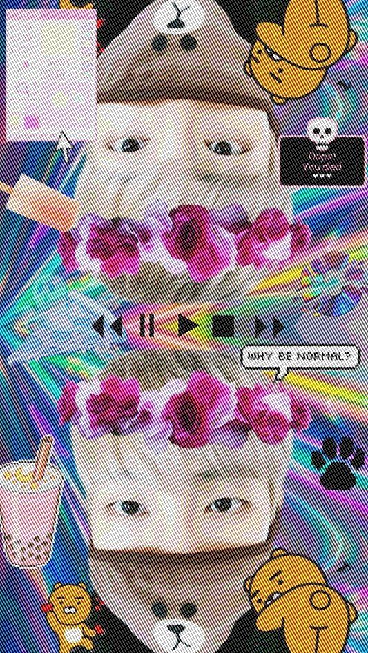 Namjoon BTS lockscreen kpop vaporwave aesthetic vaporwave