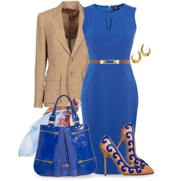 Blue & Linen, created by yasminasdream on Polyvore
