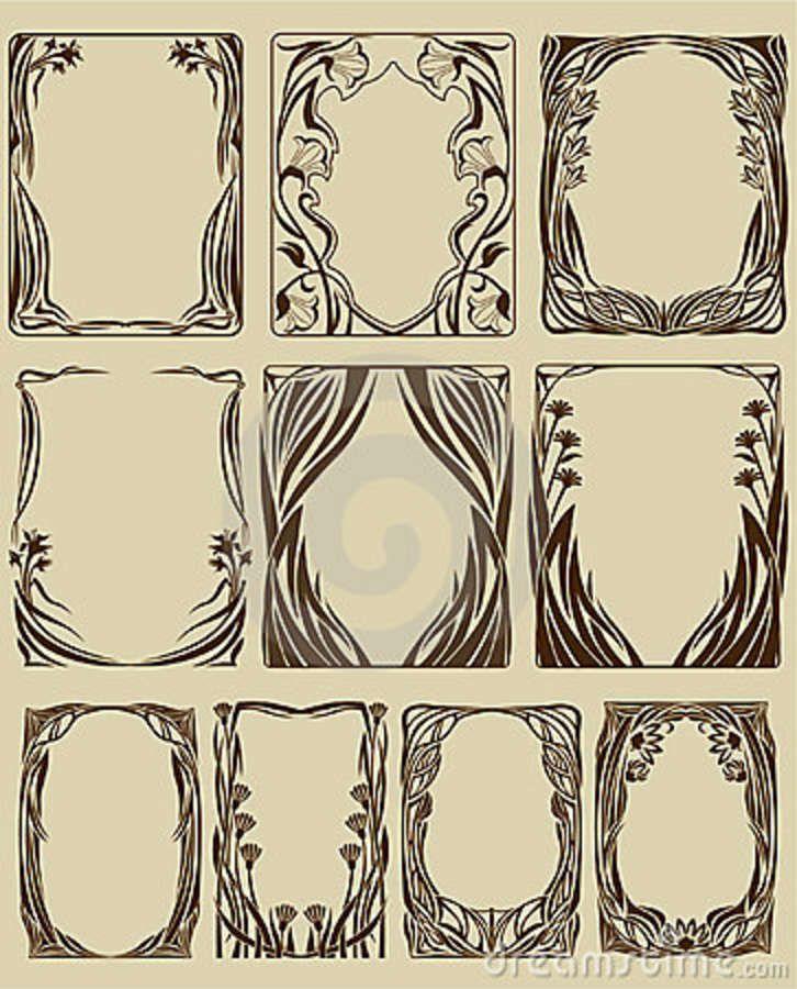Art Nouveau Frames ~ http://thumbs.dreamstime.com/z/art-nouveau-frames-8080767.jpg