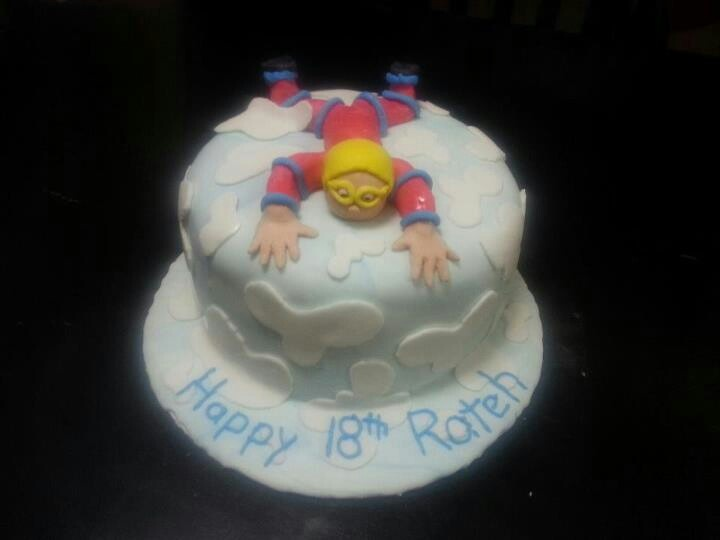 Skydiving Birthday Cake by Sugar Sweet Crumbs...
