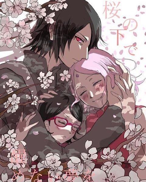 Sasuka, Sakura, and Sarada.