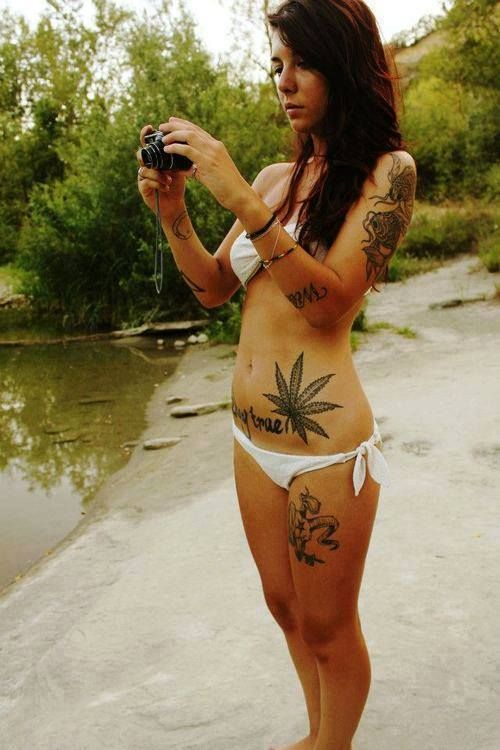 love her marijuana leaf and her fish tattoos!! pieces! deff a consideration!