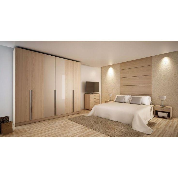 Manhattan Comfort Eldridge 6-Door Wardrobe in White High Gloss-34184 - The Home Depot