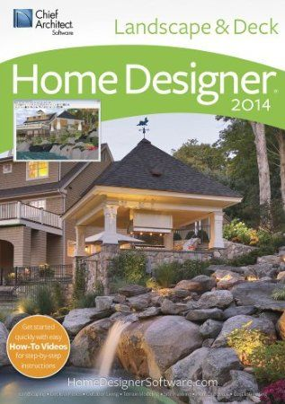 Chief Architect Home Designer Landscape & Deck 2014: Let Home Designer Landscape & Deck by Chief Architect Software help you plan and design your perfect outdoor living space! It's easy to quickly design the virtual look and feel of your backyard, deck, patio, pool or other outdoor project. Create beautiful landscapes, terrain features, gardens and decks quickly and easily! Get started today!     Price: $79.99