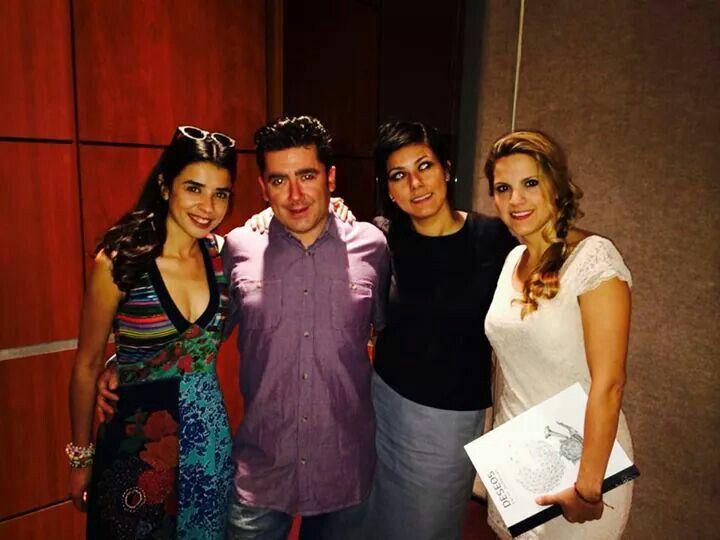 Con Eleki Hobosigns, Violeta Rivera y Pau Toledo