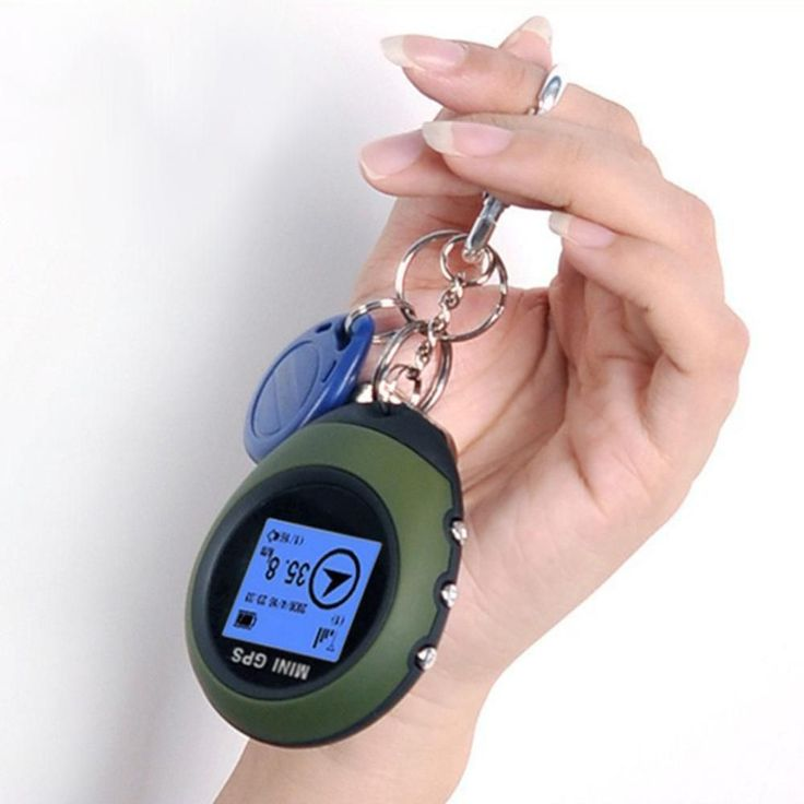 Protable Travel GPS Tracker Tracking Device Car Locator Pathfinding Outdoor Hiking Handheld GPS Keychain For Car Travel Tracker