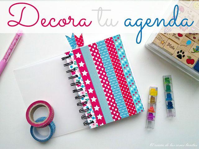 17 best images about washi tape school escuela on pinterest notebooks school supplies and - Como decorar una agenda ...