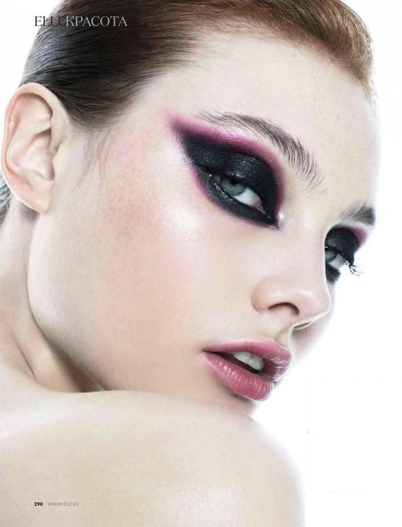 Not your average cat-eye makeup // Photo by Nikolay Biryukov for Elle Russia