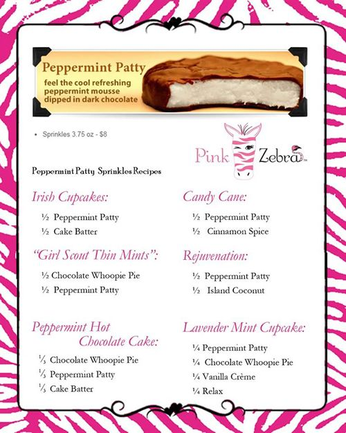 pink zebra sprinkles peppermint patty - Google Search