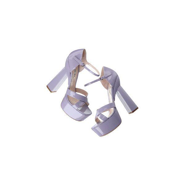 VOGUE FASHION ITEM SEARCH ❤ liked on Polyvore featuring shoes, sandals, heels, miu miu, miu miu shoes, heeled sandals and miu miu sandals