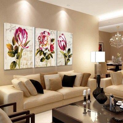 decoracion de cuadros para salas retro