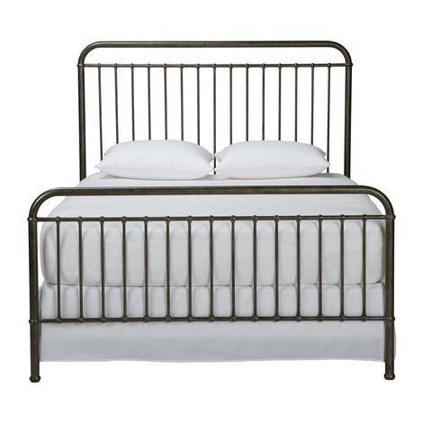 A metal bed with clean classic masculine appeal owen comes in twin full and queen sizes in - Ethan allen queen beds ...