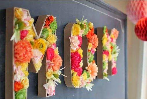Portal de Manualidades: Cómo hacer letreros con flores