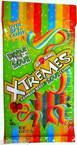 AIRHEADS CANDY - XTREMES RAINBOW BERRY SOUR CANDIES - Party Favors - 4.5oz pack