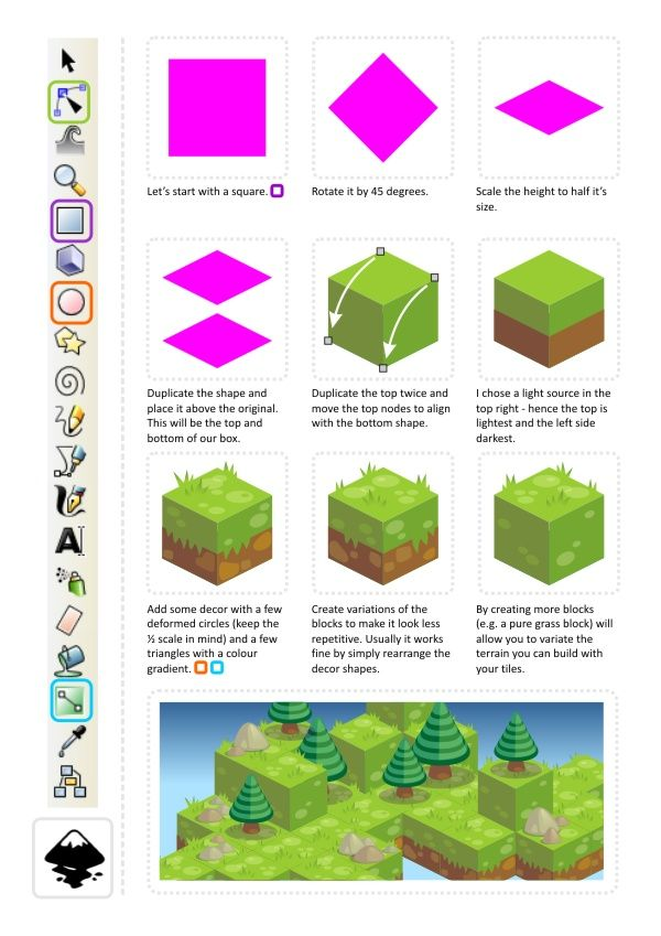 포토샵으로 시안 작업시 참고  --------------------------------------- 2D Game Art for Programmers: Building isometric art in vectors - step 1