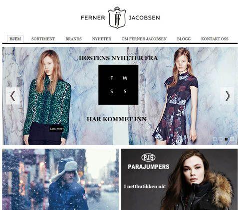 Fernerjacobsen - Nettbutikk Og Motehus Med Eksklusive Merkevarer på klær
