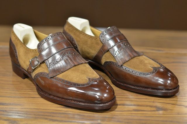 Saint Crispins Two Toned Single Monk Straps  www.theshoesnobblog.com