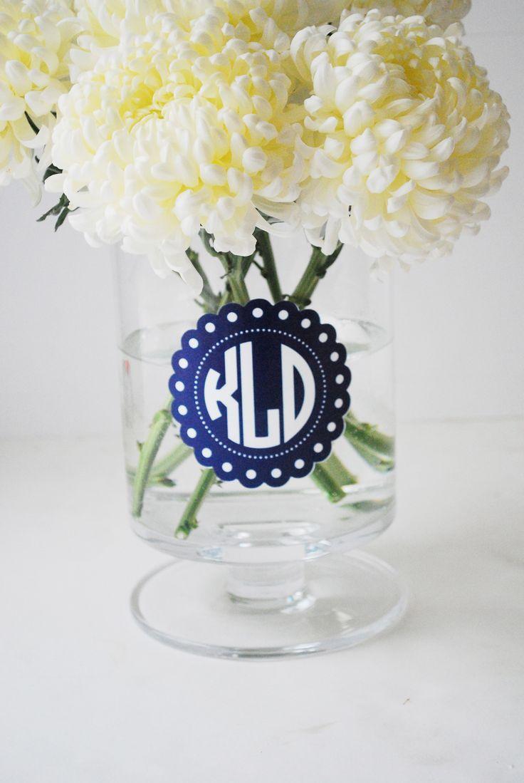 Best embellished monogrammed vases images on