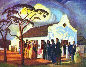 Pierneef (South African, 1886 – 1957) Geloftekerk, uit Huisgenoot se Gedenkuitgawe van die Groot Trek, Desember 1938.
