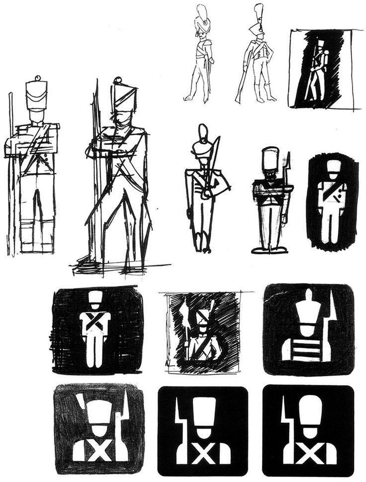 Jean Widmer - pictogrammes autoroutes, 1972-78