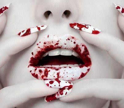 Colorful lip art for fashion girls #lip #art www.loveitsomuch.comNails Art, Gothic Makeup, Halloween Makeup, Lips, Makeup Ideas, Zombies Makeup, Halloweenmakeup, Alex O'Loughlin, Halloween Nails
