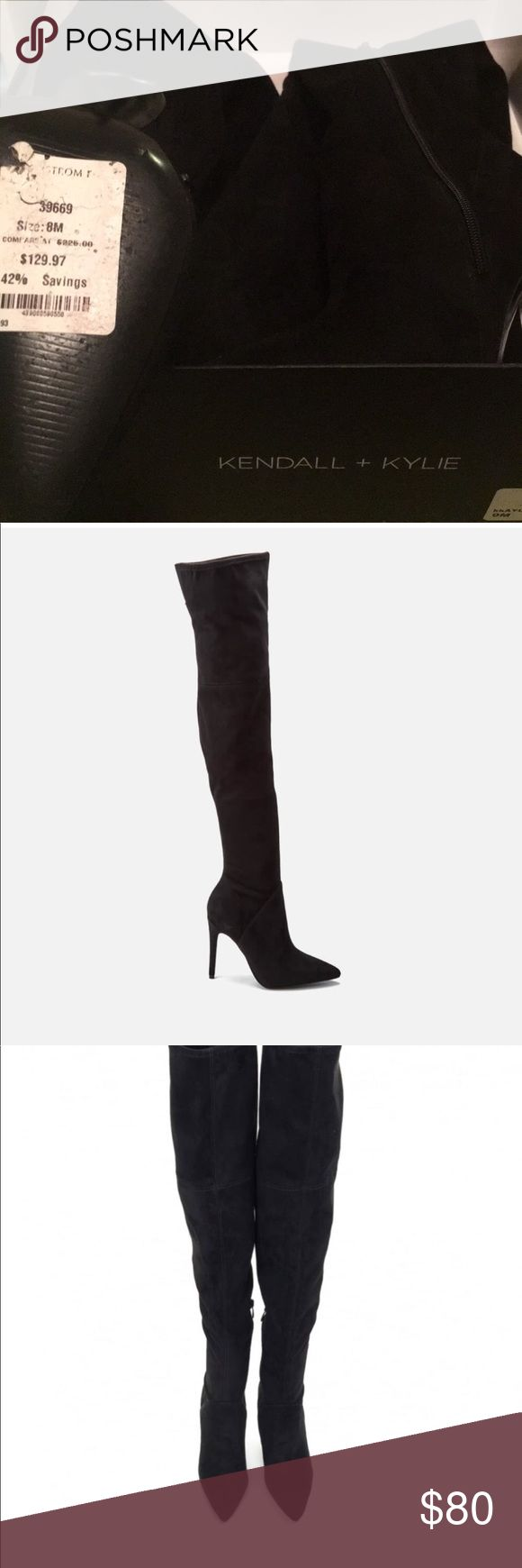 KENDALL AND KYLIE OVER THE KNEE BLACK BOOTS NWT New with tags never been worn over the knee black suede boots. Pristine condition. Kendall & Kylie Shoes Over the Knee Boots